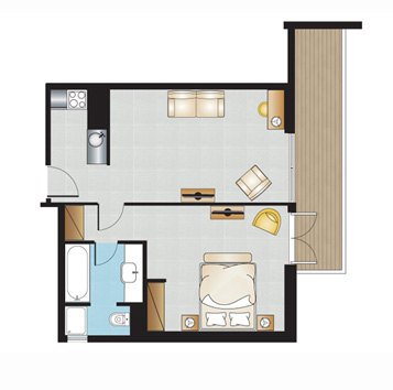 Luxury Executive Suite Floorplan