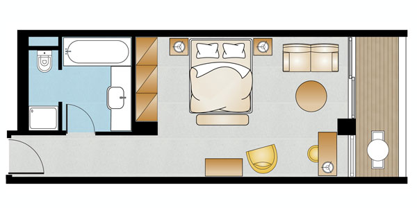 Deluxe Guestroom Sea View Floorplan