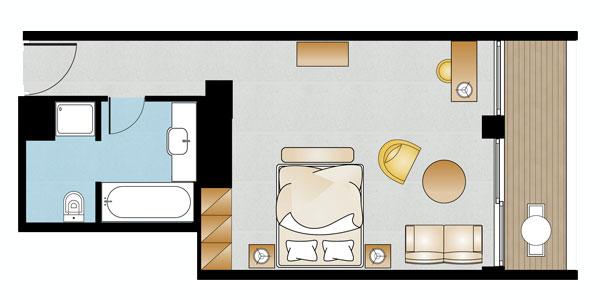 Vouliagmeni Suites Premium Deluxe Guestroom Sea View