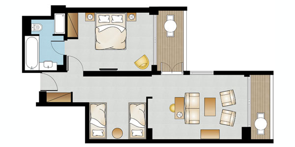 Deluxe Suite Sea View Floorplan