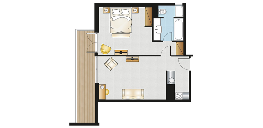 Vouliagmeni-Suites-Deluxe-Family-Apartment-Suite-Floorplan
